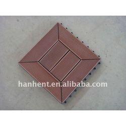 Diy WPC Decking Tile para jardim