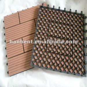Wpc veranda fácil cubierta del azulejo