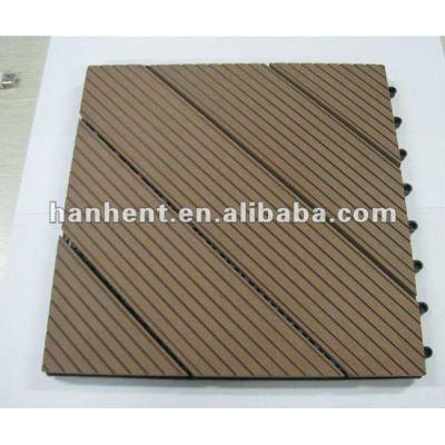 Enclavamiento wpc suelo / azulejos decking de