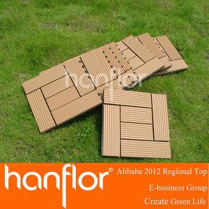 No antideslizante de madera maciza compuesto azulejos decking de
