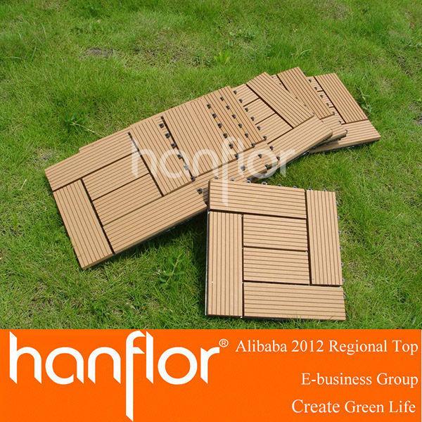 Não - deslizamento composta de madeira de azulejos deck