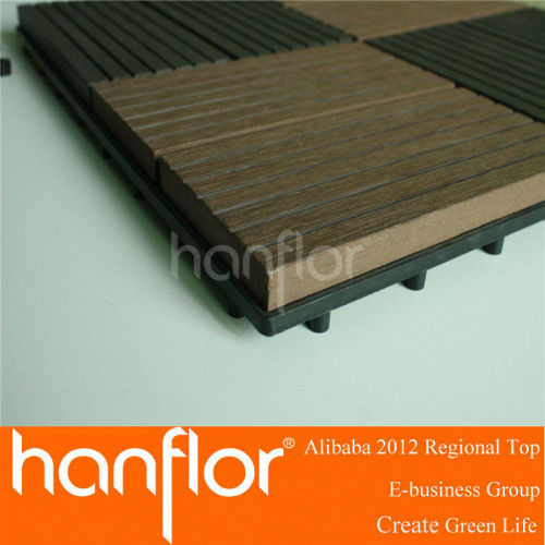 Compuesto plástico de madera cubierta baldosas wpc