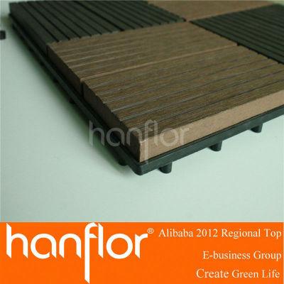 Mejor venta! 300 x 300 mm 400 x 400 mm WPC decking compuesto plástico de madera suelo azulejos decking de WPC azulejos