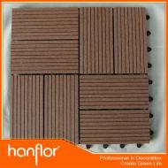 Wpc platelage bois et en plastique composite extérieure tuiles de jardin