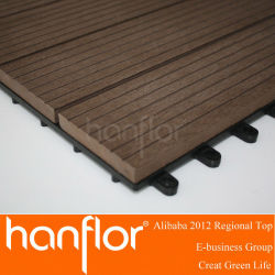 Outdoor facile à installer WPC DIY tile / WPC flooring