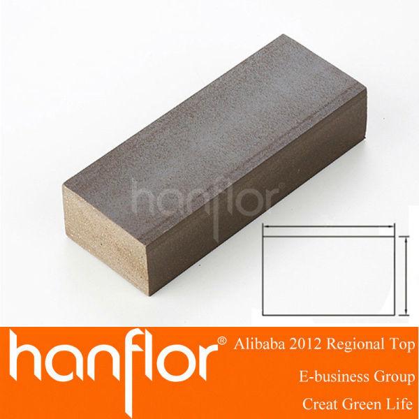 Plástico de madeira piso composto viga