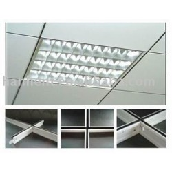 U groove grilles de plafond