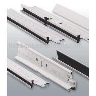 U groove plafond en aluminium grille
