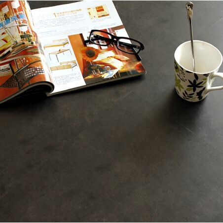 Piedra negro del PVC del diseño azulejos de suelo