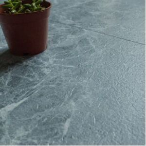 Hanflor pvc tile semi-glossy slate 18''*18'' 2.0mm moisture resistance durable poisonless and tasteless