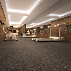 Uso comercial durável piso PVC tapete telha