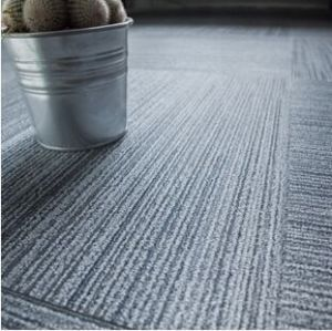 Easy clean alfombra resistencia a la humedad de PVC azulejo de piso