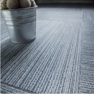 Hanflor PVC Floor Tile semi-matt carpet 50''*50'' shock-resistance durable poisonless and tasteless