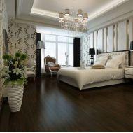 Noir bois des performances durables revêtements de sol PVC planche