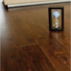 Semi - mat bois lisse en relief revêtements de sol PVC planche
