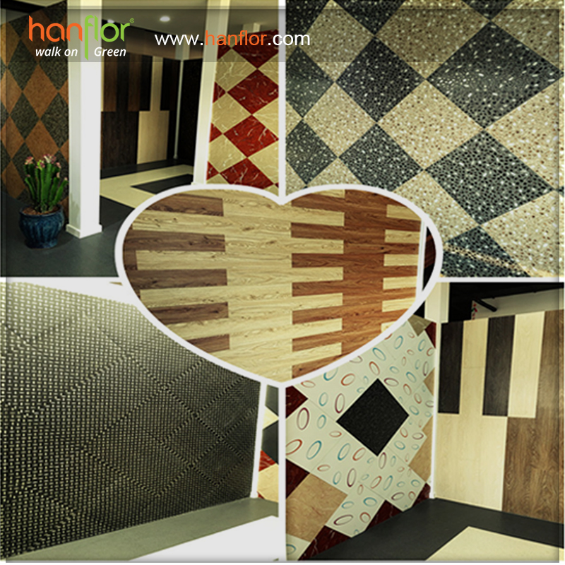10.Showroom:Hanhent hanflor showroom with goods looking and specificial design of the pvc floor, you will have amazing feeling to check our showroom and will find the goods you need here. Wood embossed pvc floor, marble pvc tile,stone vinyl tile,carpet pvc tile,mat color, glossy color and semi-mat, many different models can match your different needs. plastic floor,pvc floor, Vinyl floor, plastic flooring, pvc flooring, Vinyl flooring, pvc plank, vinyl plank, pvc tile, vinyl tile, click vinyl flooring, interlocking vinyl flooring, unilin click flooring, unilin click vinyl flooring, click pvc flooring, interlocking pvc flooring, unilin click vinyl flooring, unilin click pvc flooring