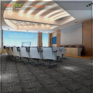 Warm feeling luxury vinyl carpet tile for living room
