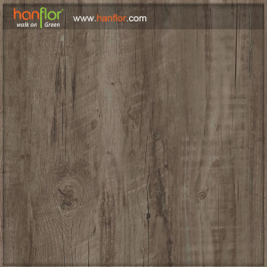 Hanflor Grey vinyl plank 3mm semi-glossy Smooth embossed anti-scratch  high stability easy install