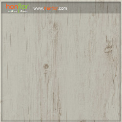 Plank Vinyl Flooring 2mm Off White Wood Texture Glossy Sound Absorption Waterproof