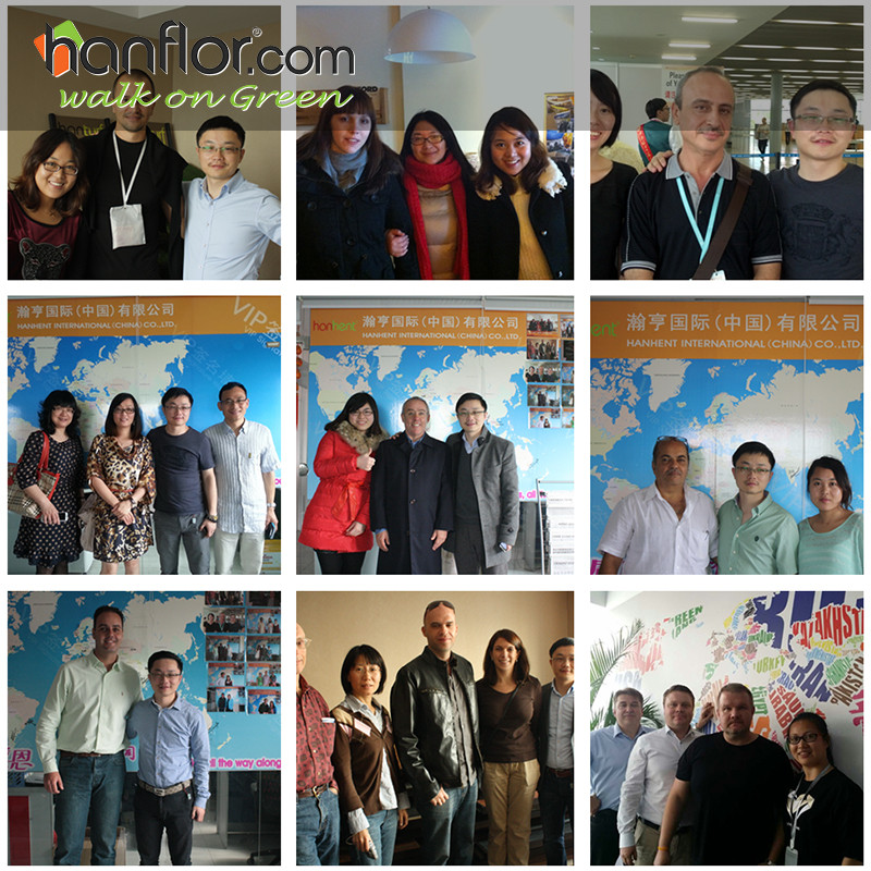 9.Customers:Many customer and clients visit our office and check the pvc floor, confirm the cooperation with us. Many of them we have cooperated for more than 5years and with good friendship, thanks for the trust of our clients and customers, we will do better to support our clients and customers.plastic floor,pvc floor, Vinyl floor, plastic flooring, pvc flooring, Vinyl flooring, pvc plank, vinyl plank, pvc tile, vinyl tile, click vinyl flooring, interlocking vinyl flooring, unilin click flooring, unilin click vinyl flooring, click pvc flooring, interlocking pvc flooring, unilin click vinyl flooring, unilin click pvc flooring