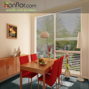 Hanflor pvc tile 2mm fire resistance cheap price 18''*18'' flexible semi-glossy carpet looking