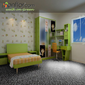 Hanflor vinyl flooring semi-glossy 3mm high stability environment-friendly 18''*18'' carpet looking flexible