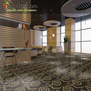 Hanflor vinyl floor 3mm multi-size 12''*24'' moisture resistance semi-glossy carpet looking recyclable