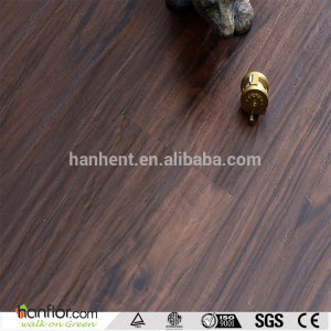 Hanflor plastic flooring semi-matt wood embossed 6''*36'' moisture resistance 2.0mm sound absorption smooth