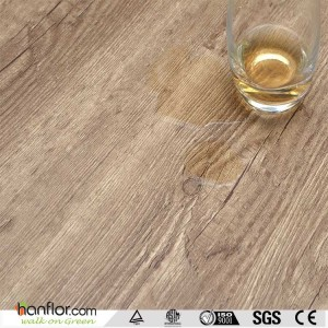 Hanflor vinyl plank semi-matt hand-scraped 7''*48'' 3.0mm anti-cigarette-burn easy install poisonless and tasteless