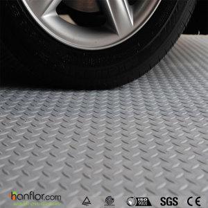 Hanflor interlocking pvc garage floor tiles 510''*510'' durable 6.5mm fire resistance shock-resistance