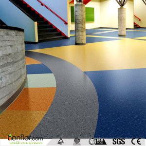 Hanflor vinyl sheet flooring semi-glossy 2.6mm 20''*2'' high stability moisture resistance anti-slip