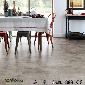 Hanflor luxury vinyl tile semi-glossy shale 2.0mm easy-clean 24''*24'' flexible  high stability