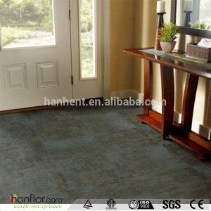 Hanflor stone pattern pvc flooring anti-cigarette-burn hand-scraped semi-glossy 3.0mm moisture resistance 18''*18'' durable