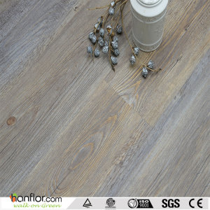 Hanflor loose lay pvc flooring semi-matt durable wood embossed 5.0mm flexible 9''*48'' smooth