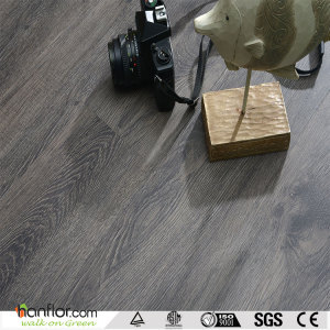 Hanflor vinyl floor semi-matt easy-clean wood embossed 6''*36'' multi-size 4.0mm anti-cigarette-burn