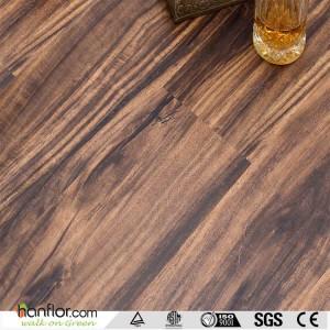 Hanflor vinyl tiles deep embossed long lifespan semi-matt 2.0mm anti-scratch 6''*36'' poisonless and tasteless