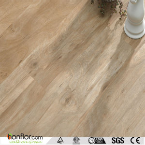 Hanflor plastic flooring semi-matt flexible 5.0mm high stability hand-scraped 6''*36'' anti-slip