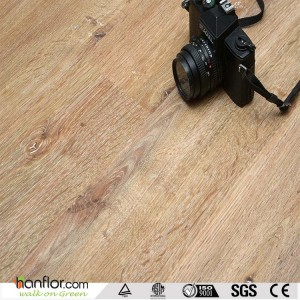 Hanflor no glue wood look interlocking pvc flooring