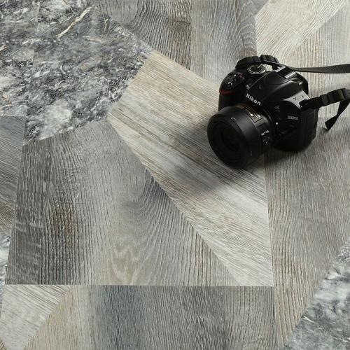 "Hanflor 12""X24""4.2mm Stone Design Click Lock Waterproof Wear Resistant Vinyl Flooring HTS 8001"