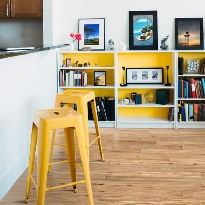 Hanflor  9''x72'' 5.0mm Natural Eucalyptus Rigid Composite Core Vinyl Plank Flooring HVP 2027