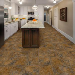 "Hanflor 12""X24""4.2mm Stone Design Click Lock Waterproof Wear Resistant Vinyl Flooring PTS 1006"