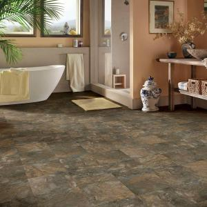 "Hanflor 12""X24""4.2mm Stone Design Click Lock Waterproof Wear Resistant Vinyl Flooring PTS 1004"