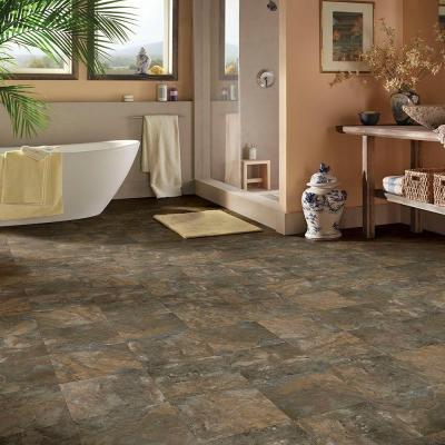 """Hanflor 12""""X24""""4.2mm Stone Look Click Lock Vinyl Tile Best Tiles For Bathroom Floor PTS 1004"""