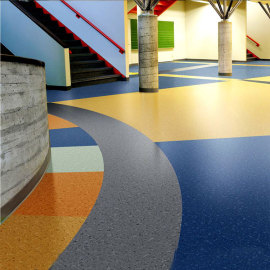 Hanflor 20''*2'' 2.6mm Vinyl Sheet Semi-Glossy High Stability Moisture Resistance Anti-Slip Flooring