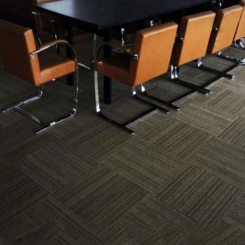 Hanflor 18''*18'' 2.0mm Matt Embossed Durable Moisture Resistance Anti-Scratch PVC Carpet Tile
