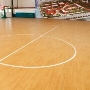 Hanflor Wood Grain High Quality PVC Floor Covering For Sports Coil Vinyl Flooring