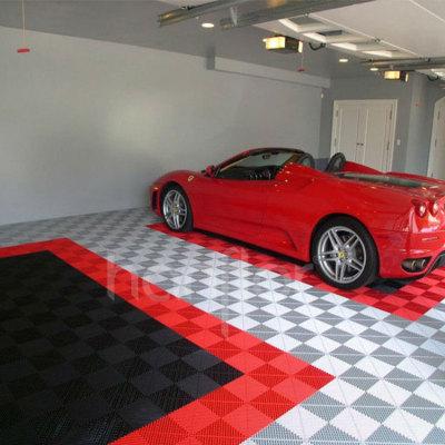 Hanflor Heavy Traffic Interlocking System Shock-Resistance Durable Garage PVC Tile Flooring