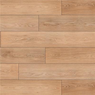 Hanflor 9''x48'' 4.2mm Beige Oak Rigid SPC Flooring Vinyl Plank HDF 9124