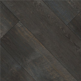 Hanflor 9''x72'' 5.0mm Dark Oak Rigid Wood Effect Vinyl Plank Flooring HDF 9126