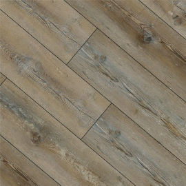 Hanflor 7''x48'' 4.0mm Brown Oak SPC Flooring Vinyl Plank HDF 9129